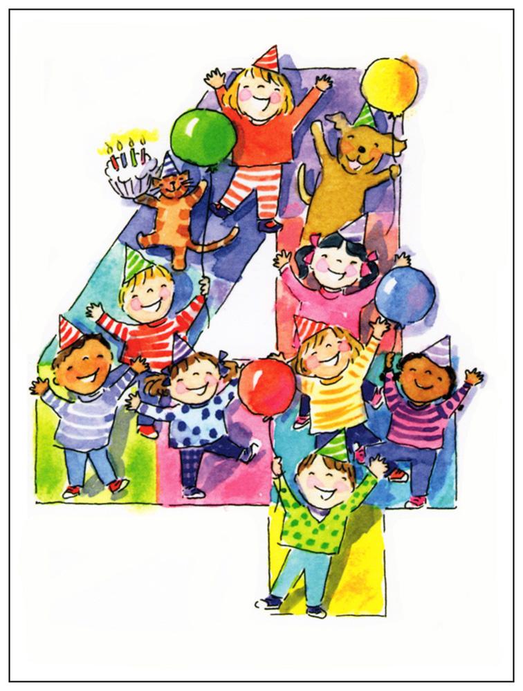 4th Birthday Card Goodbuddy
