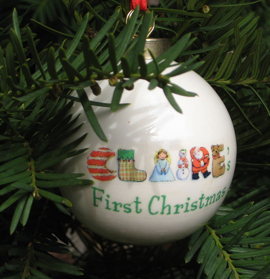 babys first christmas personalized ornament